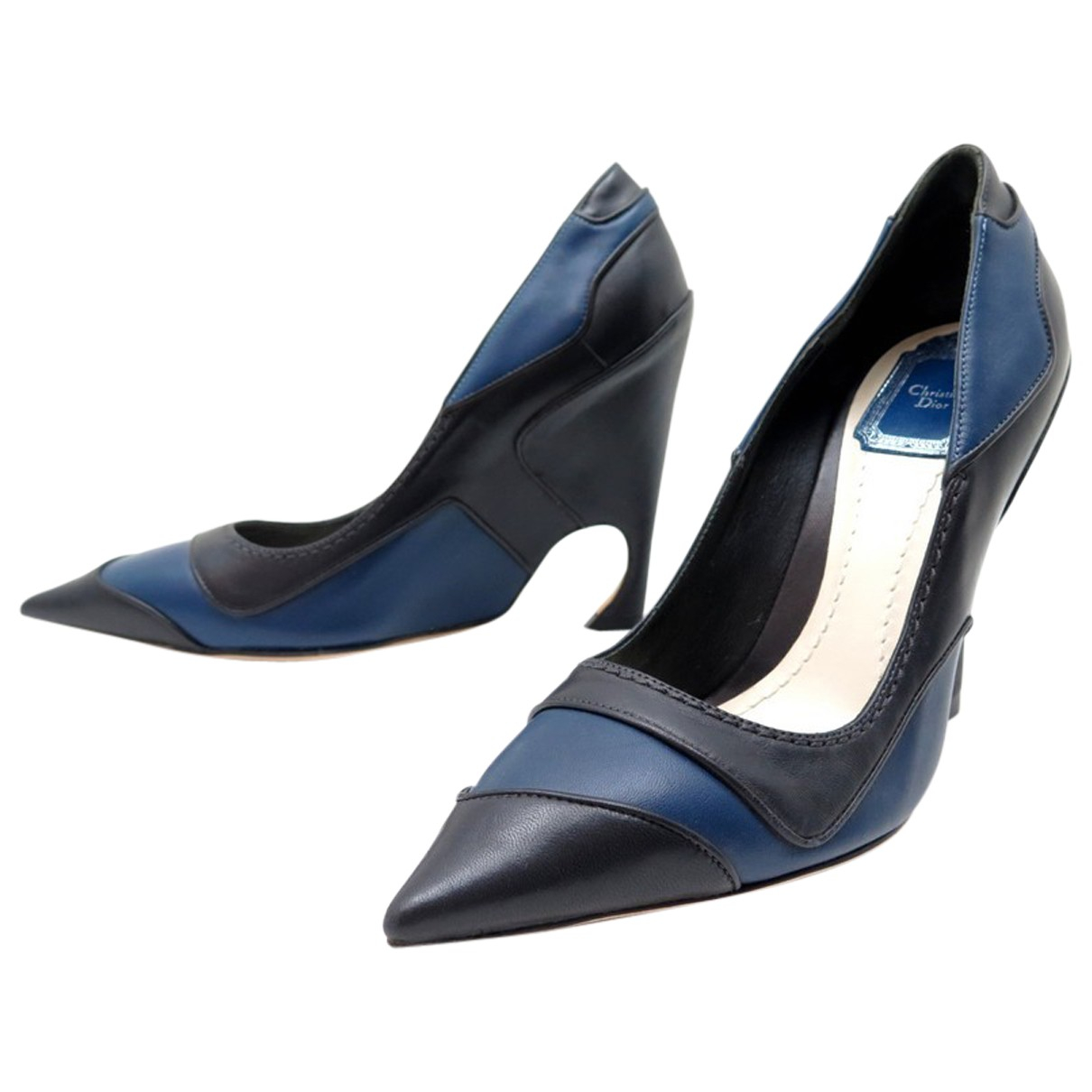 Dior \N Blue Leather Heels for Women 37 EU