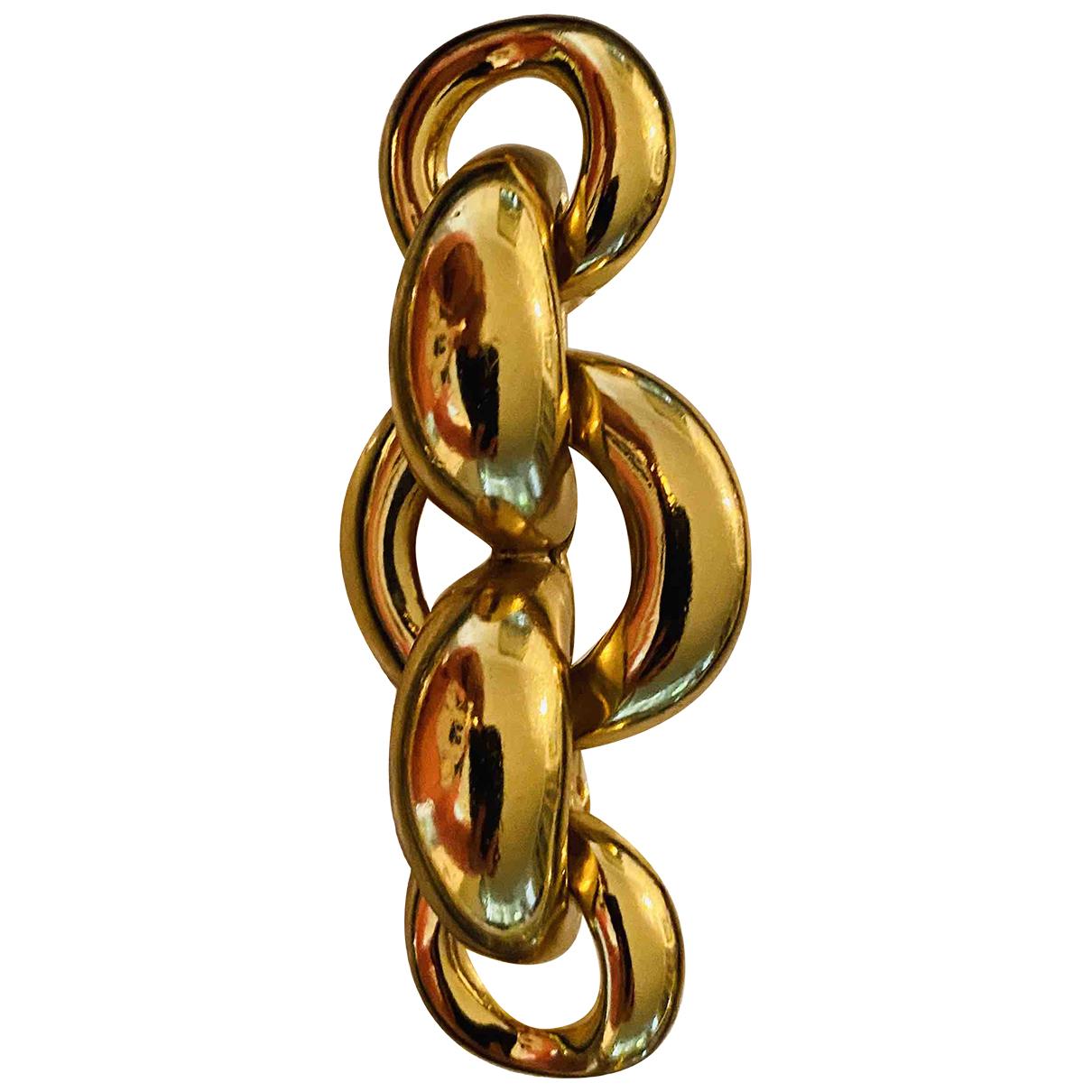Yves Saint Laurent \N Brosche in  Gold Vergoldet