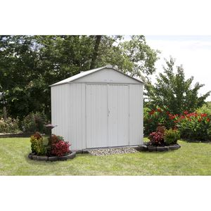 EZEE Shed , 8x7, High Gable, 72 in walls, Cream