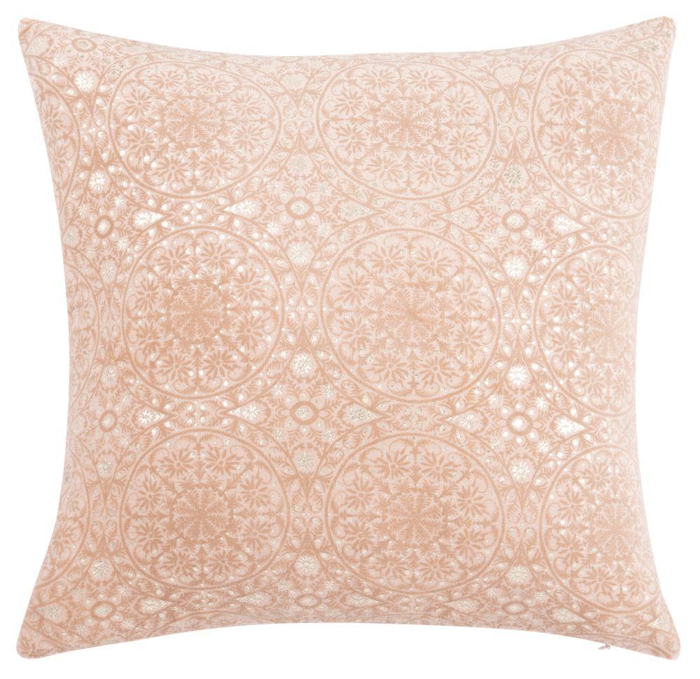 Kissenbezug aus Baumwolle, rosa, mit Fantasie-Motiven 40x40