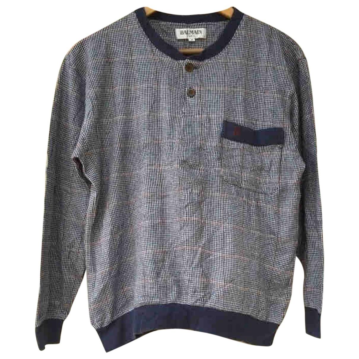 Balmain \N Grey Cotton Knitwear & Sweatshirts for Men S International
