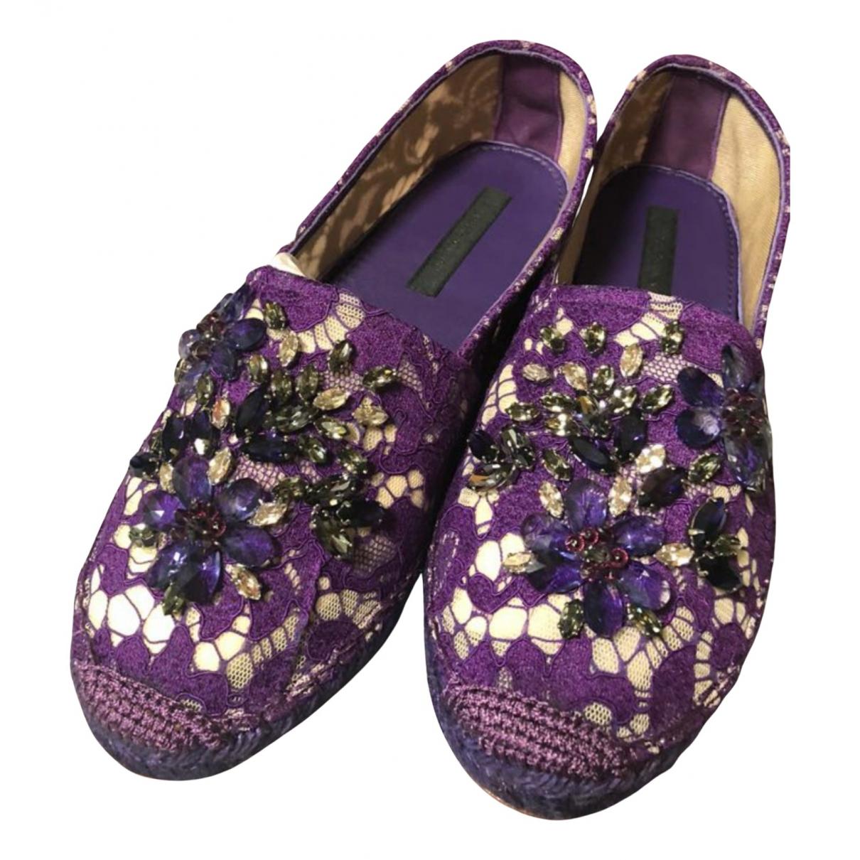 Dolce & Gabbana N Purple Cloth Espadrilles for Women 38 EU