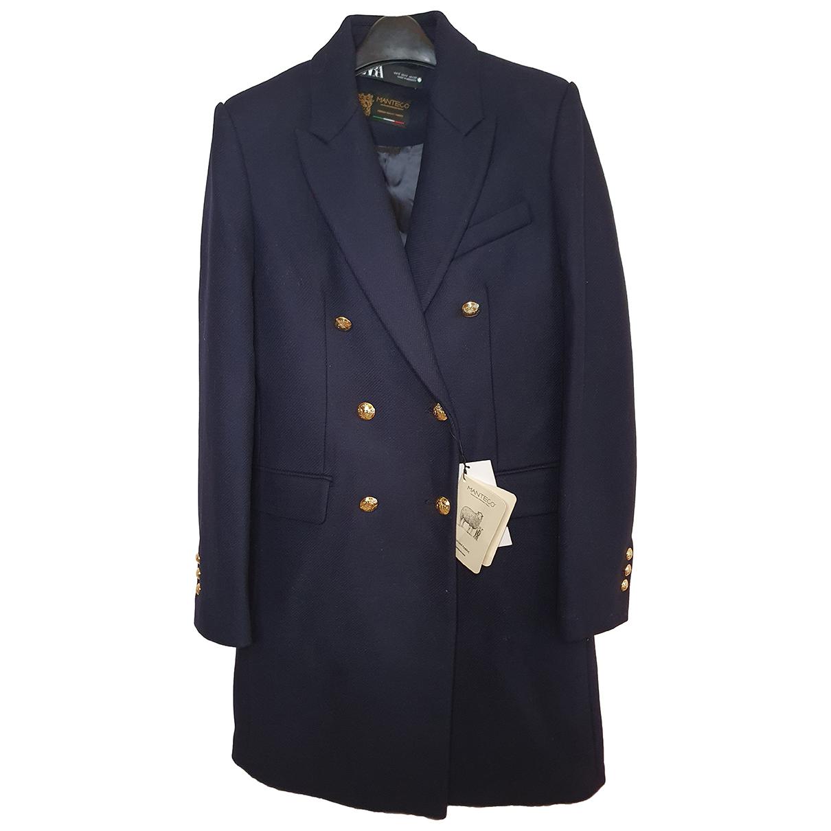 Zara N Navy Wool coat for Women XL International