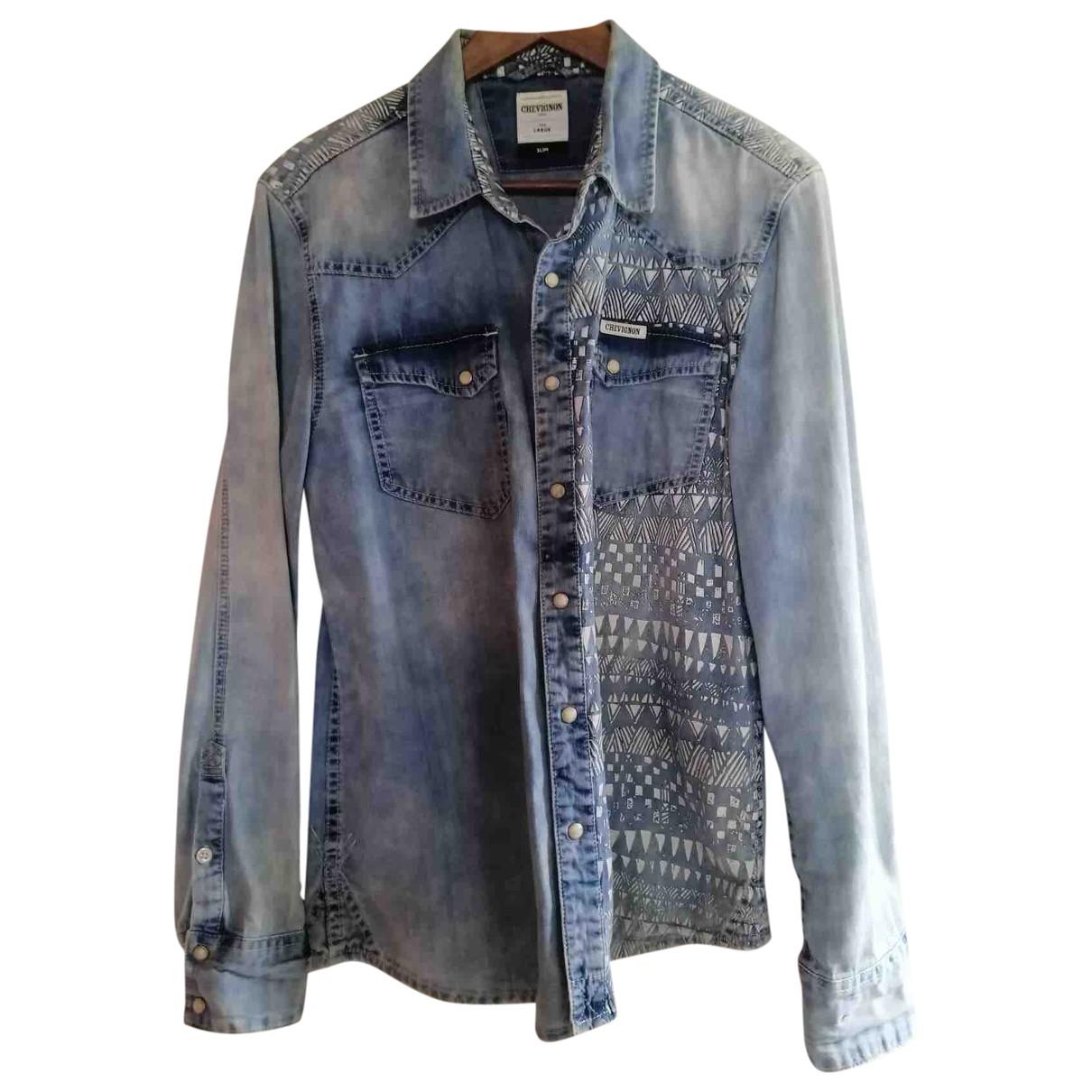 Chevignon - Chemises   pour homme en coton - bleu