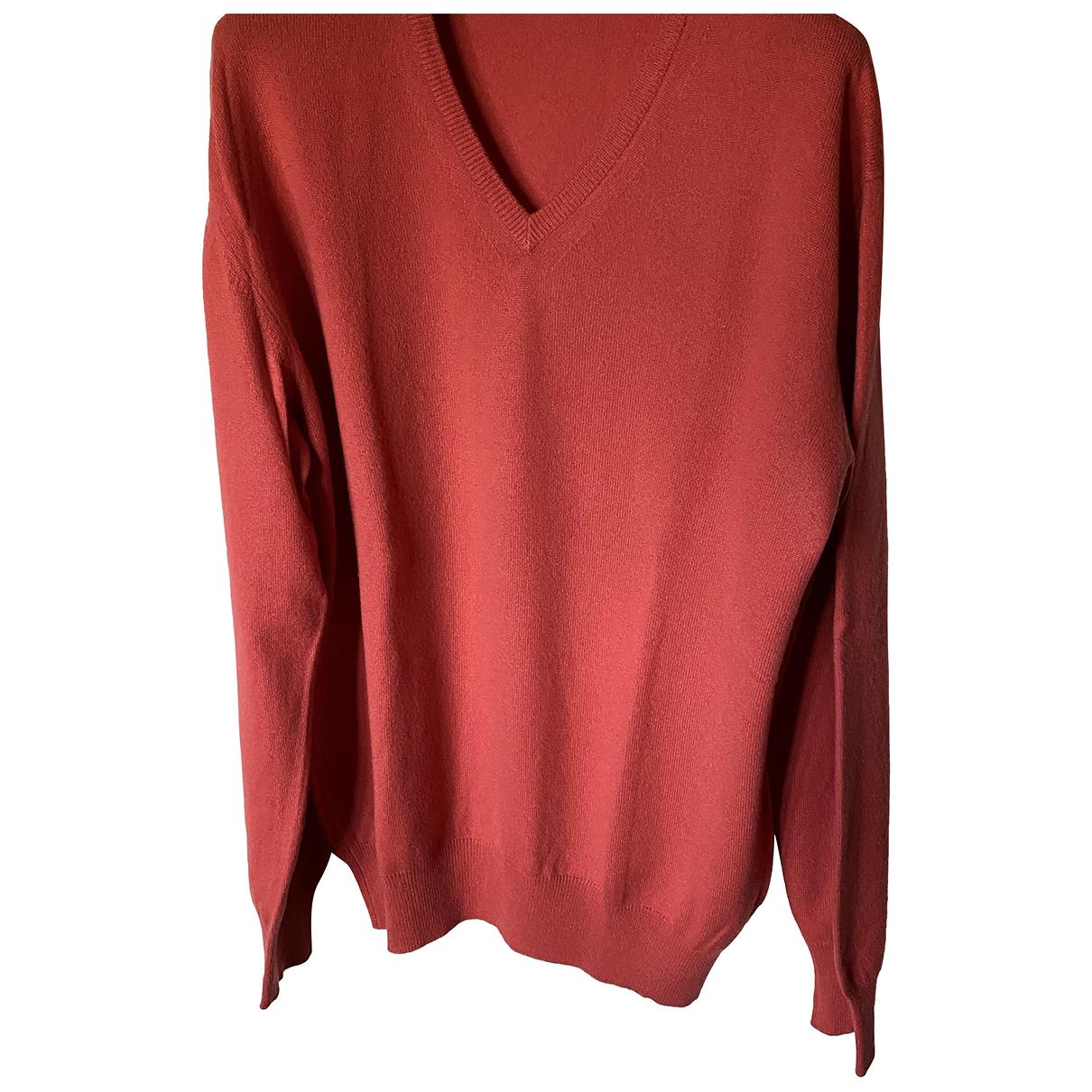 Loro Piana \N Pullover.Westen.Sweatshirts  in  Rot Kaschmir