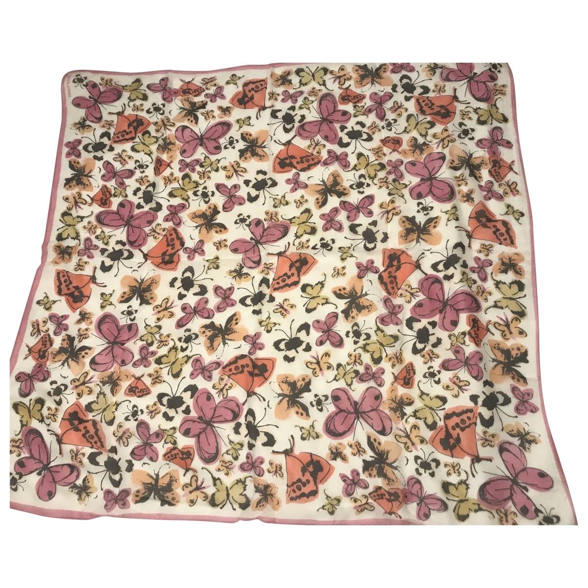 Sonia Rykiel - Carre   pour femme en soie - rose