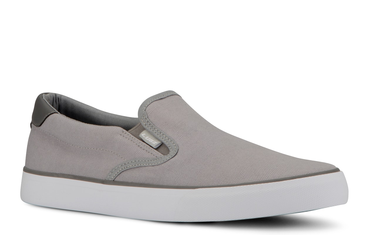 Men's Clipper Slip-On Sneaker (Choose Your Color: ALLOY/CHARCOAL/WHITE, Choose Your Size: 6.5)
