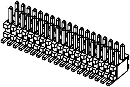 Samtec , FTE, 50 Way, 2 Row, Straight Pin Header