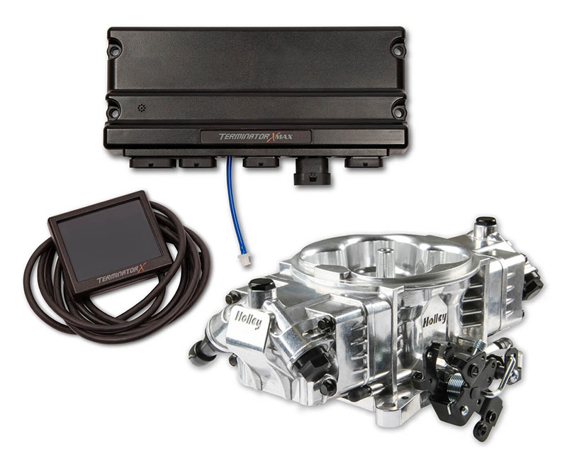 Holley 550-1014 Terminator X Stealth 4150 1250HP EFI System Shiny for Pre-2009 GM 4L60E/4L80E Transmissions