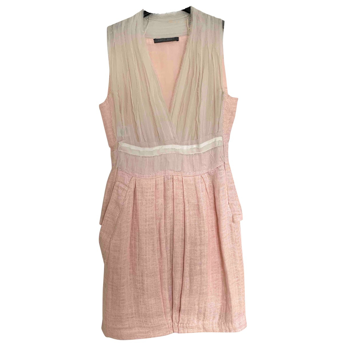 Alberta Ferretti \N Kleid in  Rosa Leinen