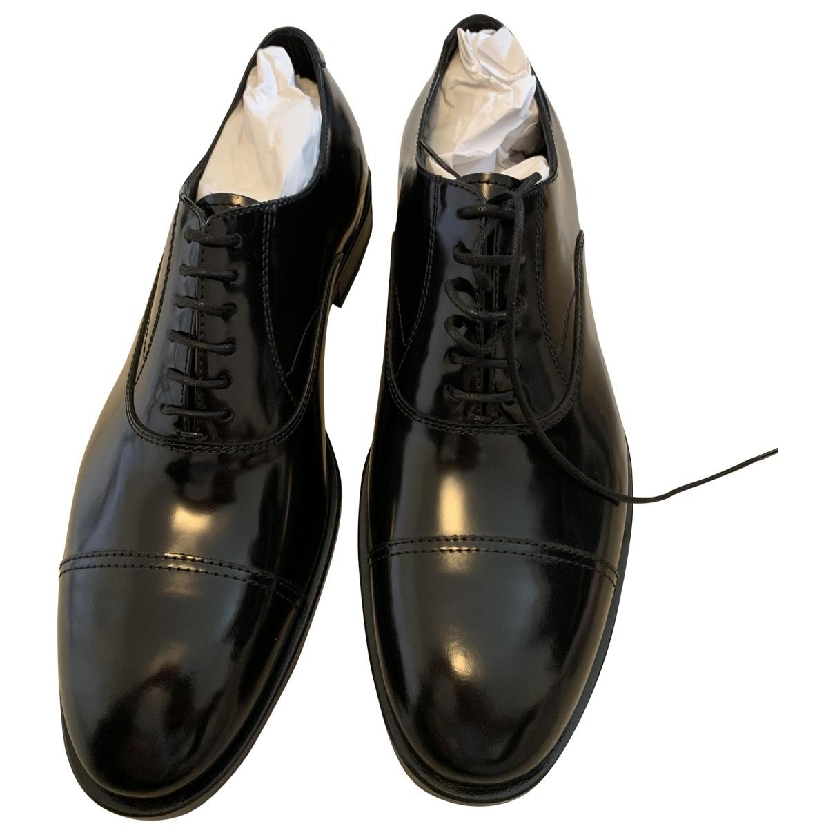Philipp Plein \N Black Leather Lace ups for Men 41 EU