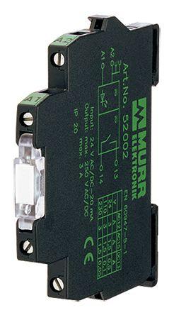 Murrelektronik Limited Optocoupler, Max. Forward 48 (On) V dc, 5 (Off) V dc, Max. Input 6 mA, 78mm Length, DIN Rail