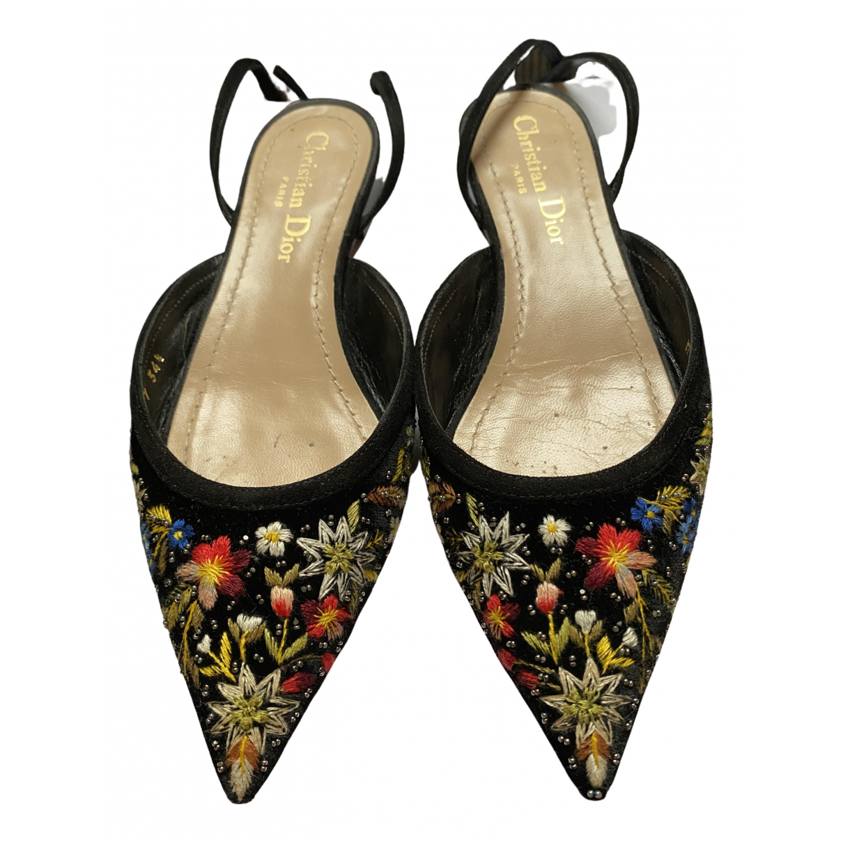 Dior \N Sandalen in  Bunt Samt