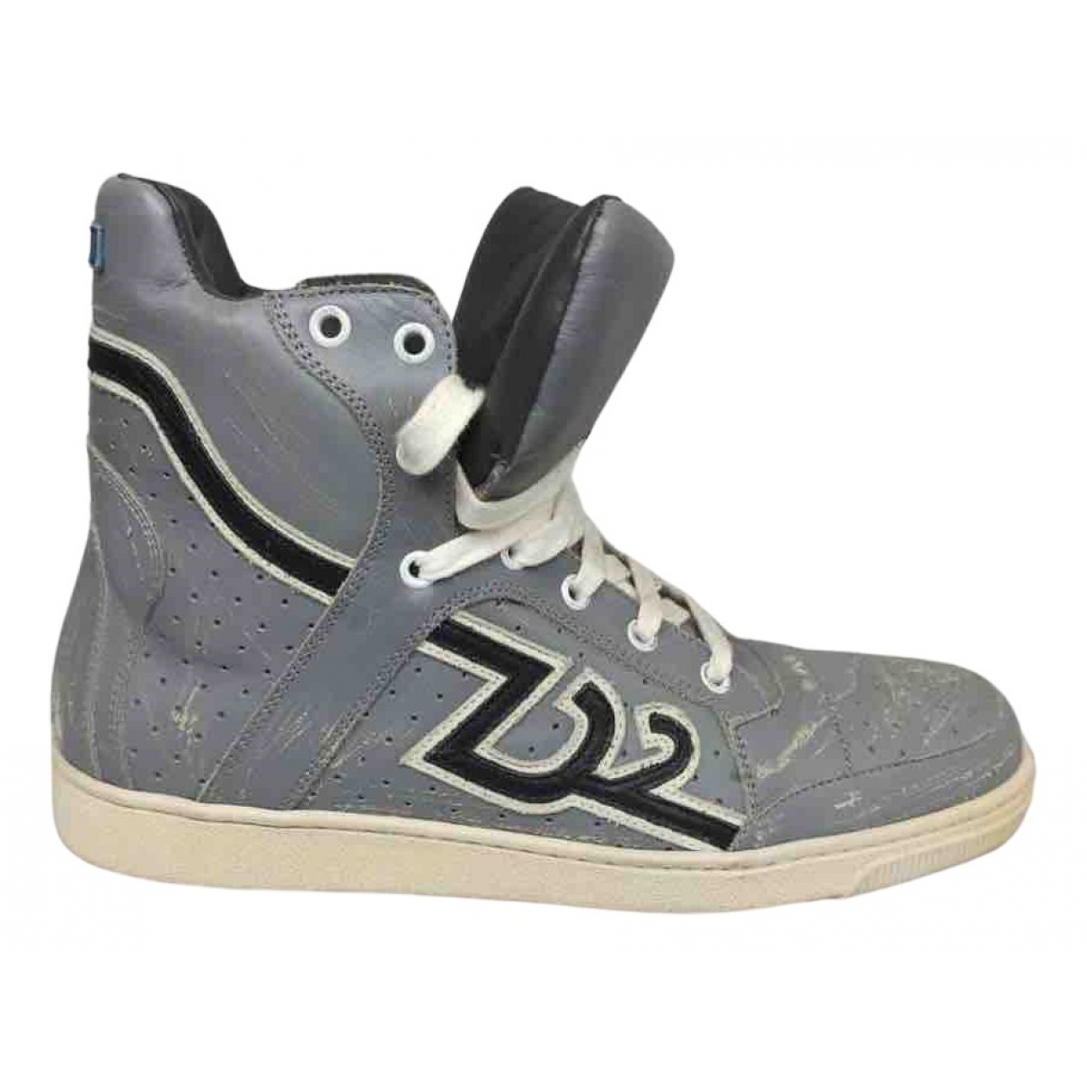 Dsquared2 N Blue Leather Trainers for Men 41 EU