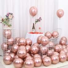 50 Stuecke Einfarbiger dekorativer Ballon