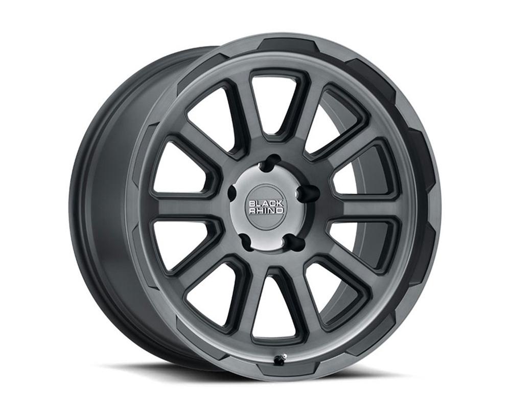 Black Rhino Chase Wheel 20x8.5  5x114.3 10mm Brushed Gunmetal
