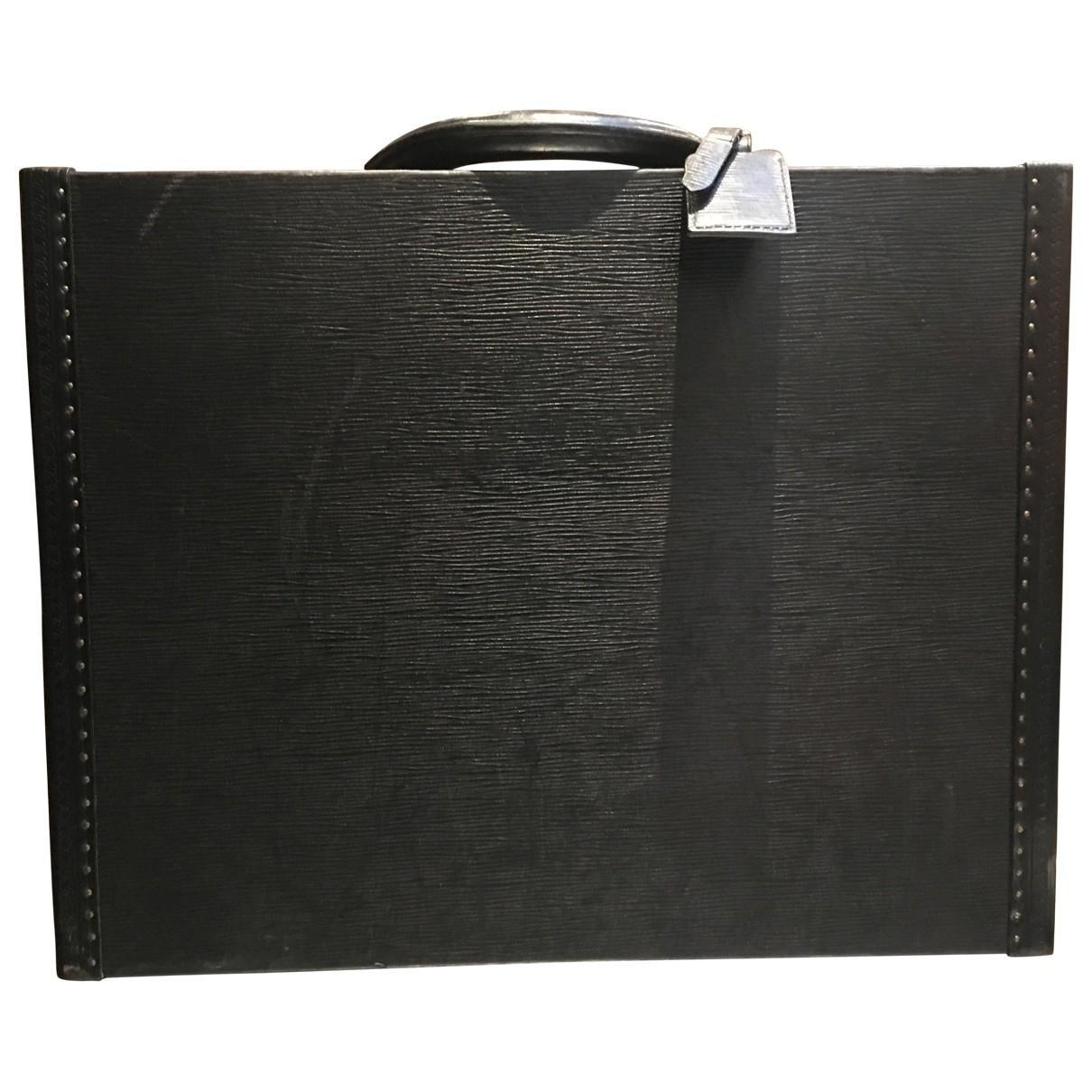 Louis Vuitton - Sac President pour homme en cuir - noir