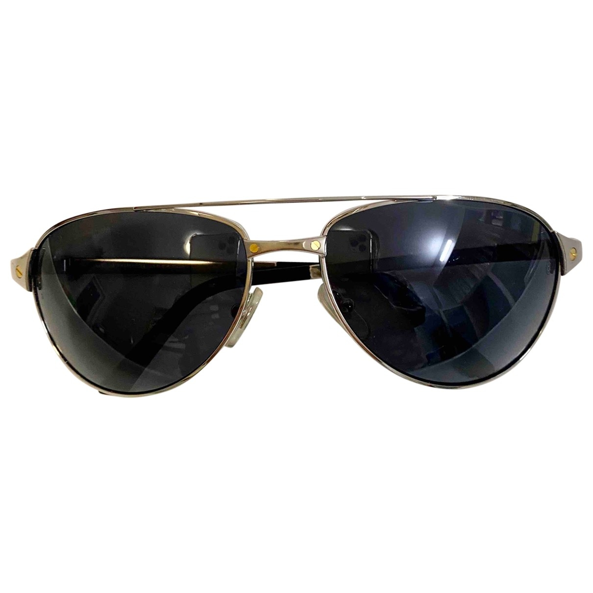Cartier Santos Silver Metal Sunglasses for Women \N