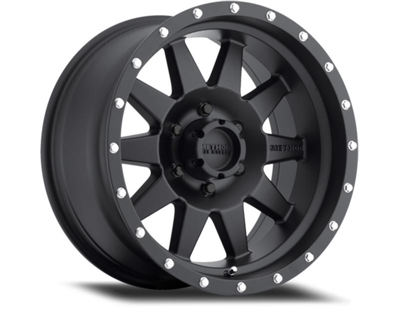 Method MR301 The Standard Matte Black Wheel 15x7 5x4.5 -6mm