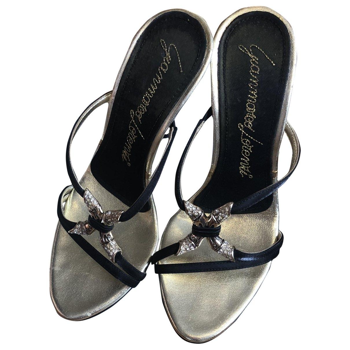 Gianmarco Lorenzi \N Gold Leather Sandals for Women 36 EU
