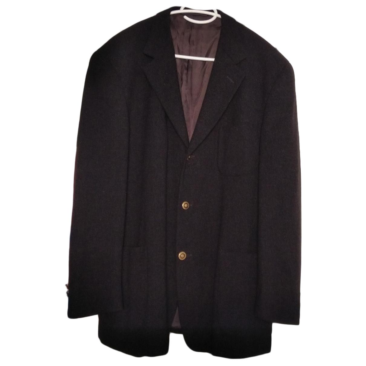Versace \N Anzuege in  Schwarz Wolle