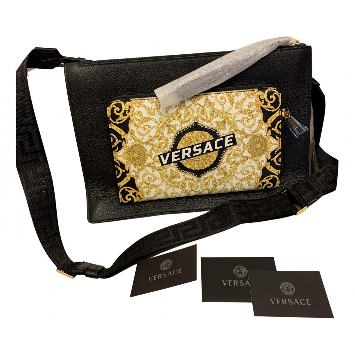 Versace N Black Leather bag for Men N