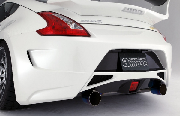 Amuse AMS20341312B01 Rear Bumper Carbon Mix Nissan 370Z 09-14