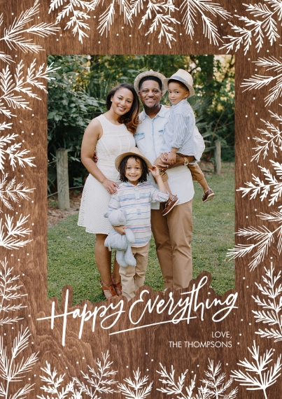 Christmas Photo Cards Flat Matte Photo Paper Cards with Envelopes, 5x7, Card & Stationery -Christmas Gold Happy Everything by Tumbalina
