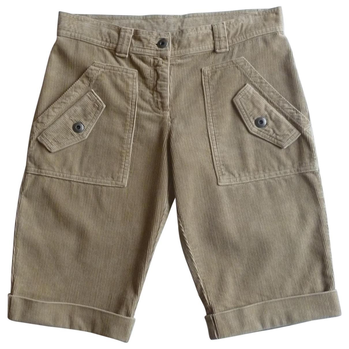Benetton N Beige Cotton Shorts for Women 38 IT