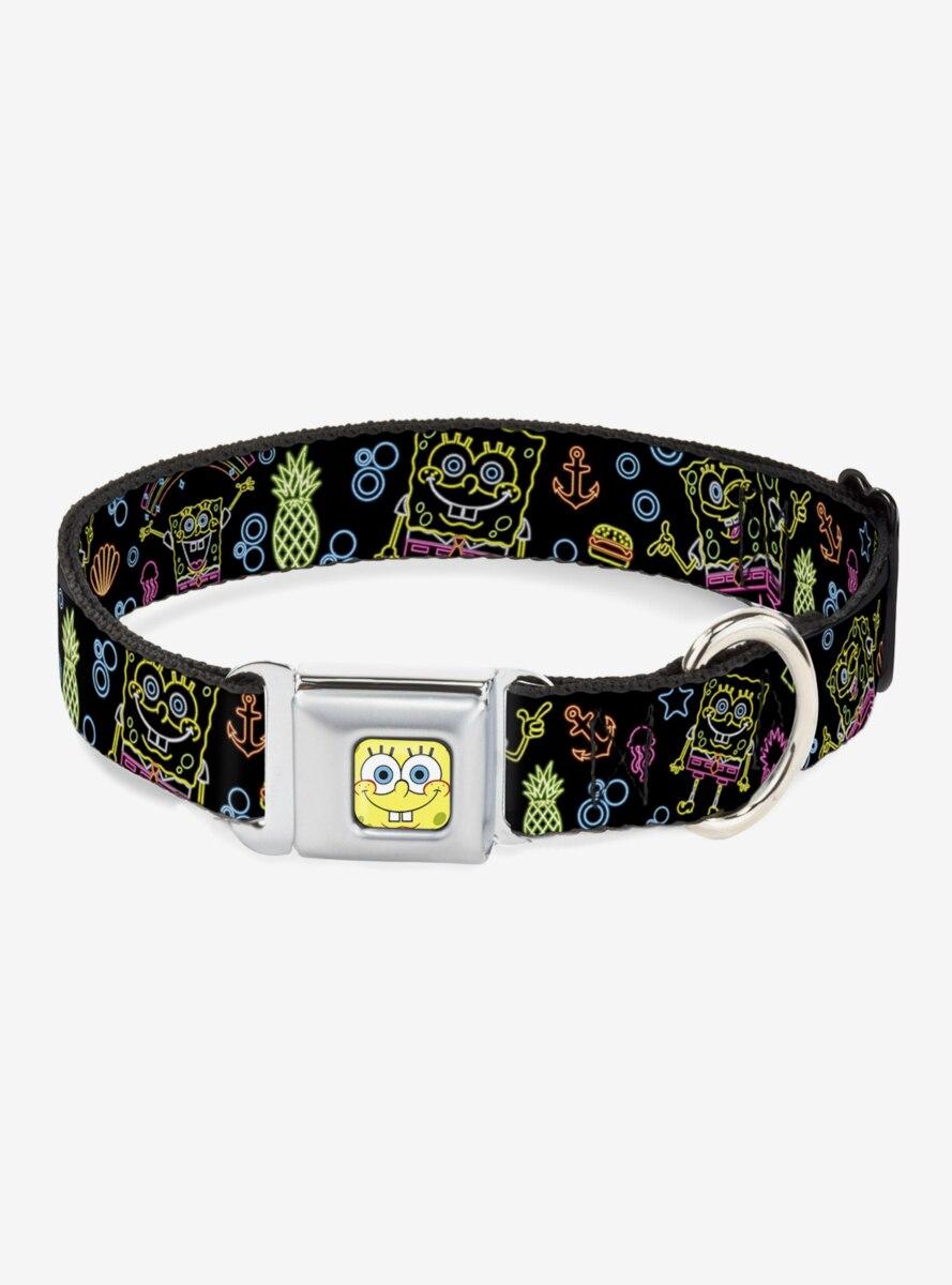 Spongebob Squarepants Electric Poses Dog Collar Seatbelt Buckle