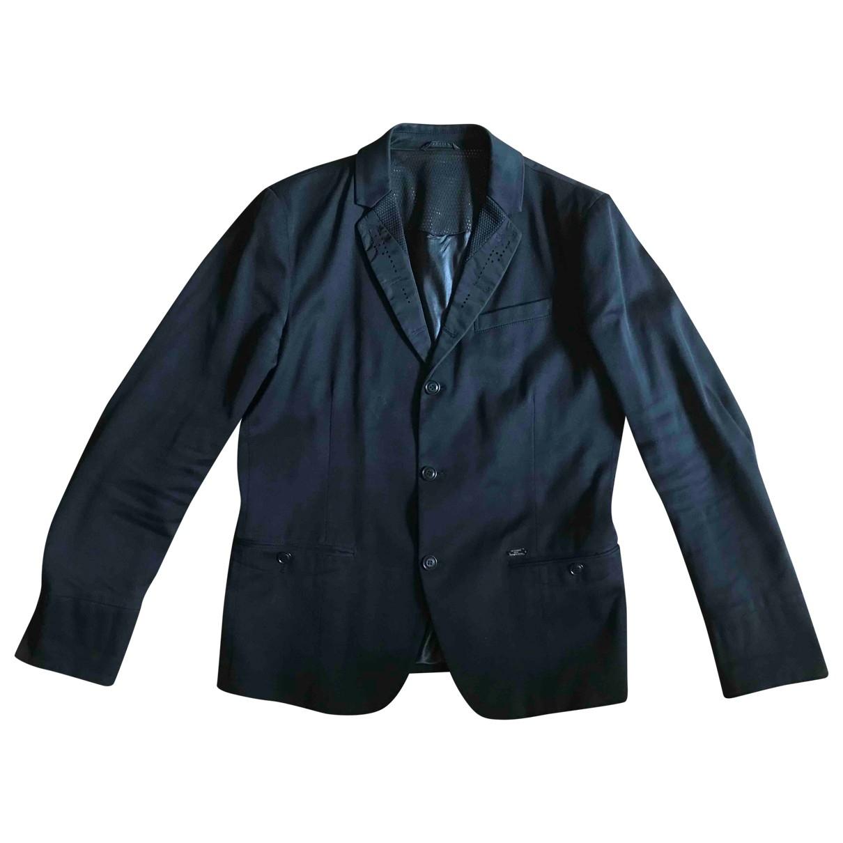 Diesel - Vestes.Blousons   pour homme en coton - noir