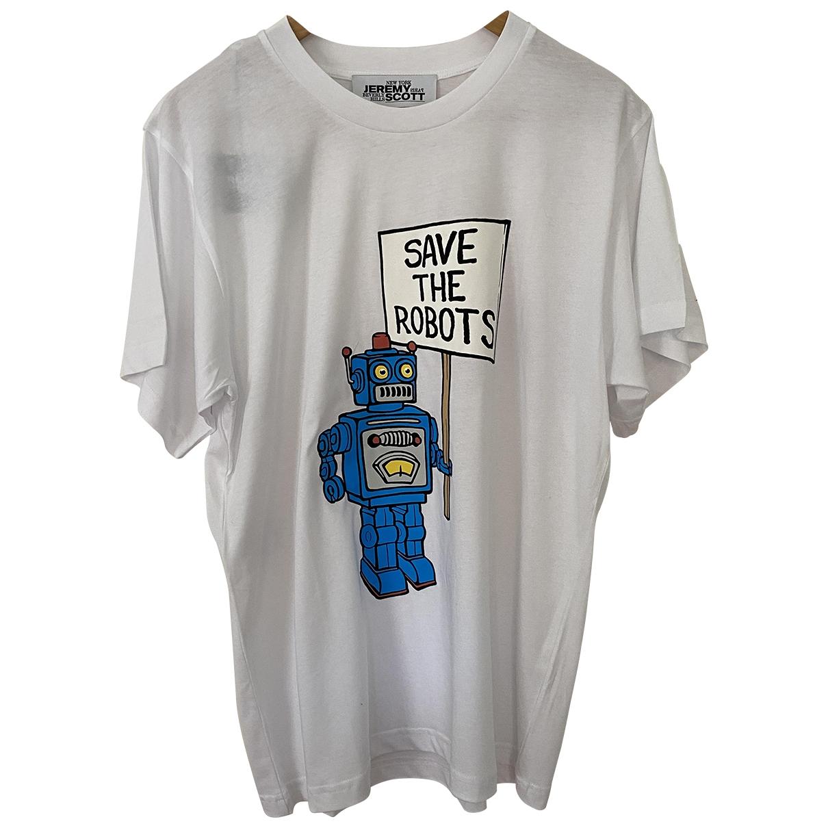 Jeremy Scott - Tee shirts   pour homme en coton - blanc