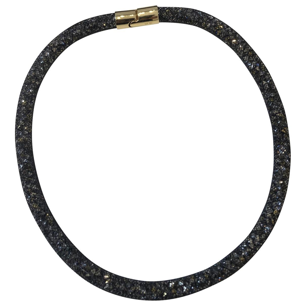 Swarovski - Collier Stardust pour femme en cristal - noir