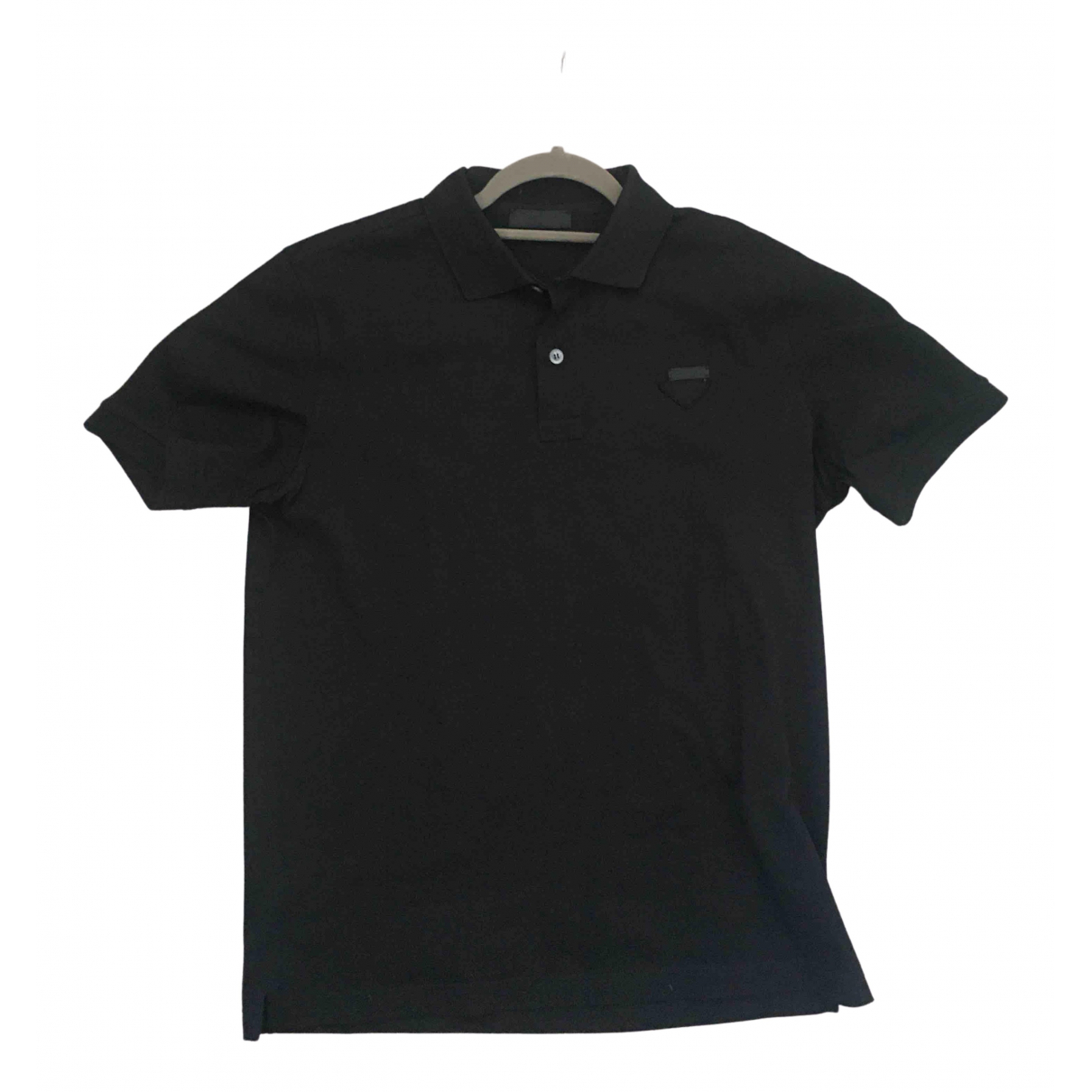 Prada \N Black Cotton Polo shirts for Men M International