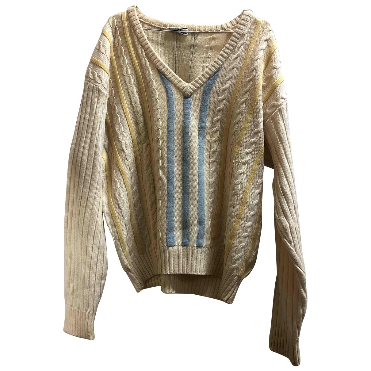 Valentino Garavani \N Pullover.Westen.Sweatshirts  in  Weiss Wolle