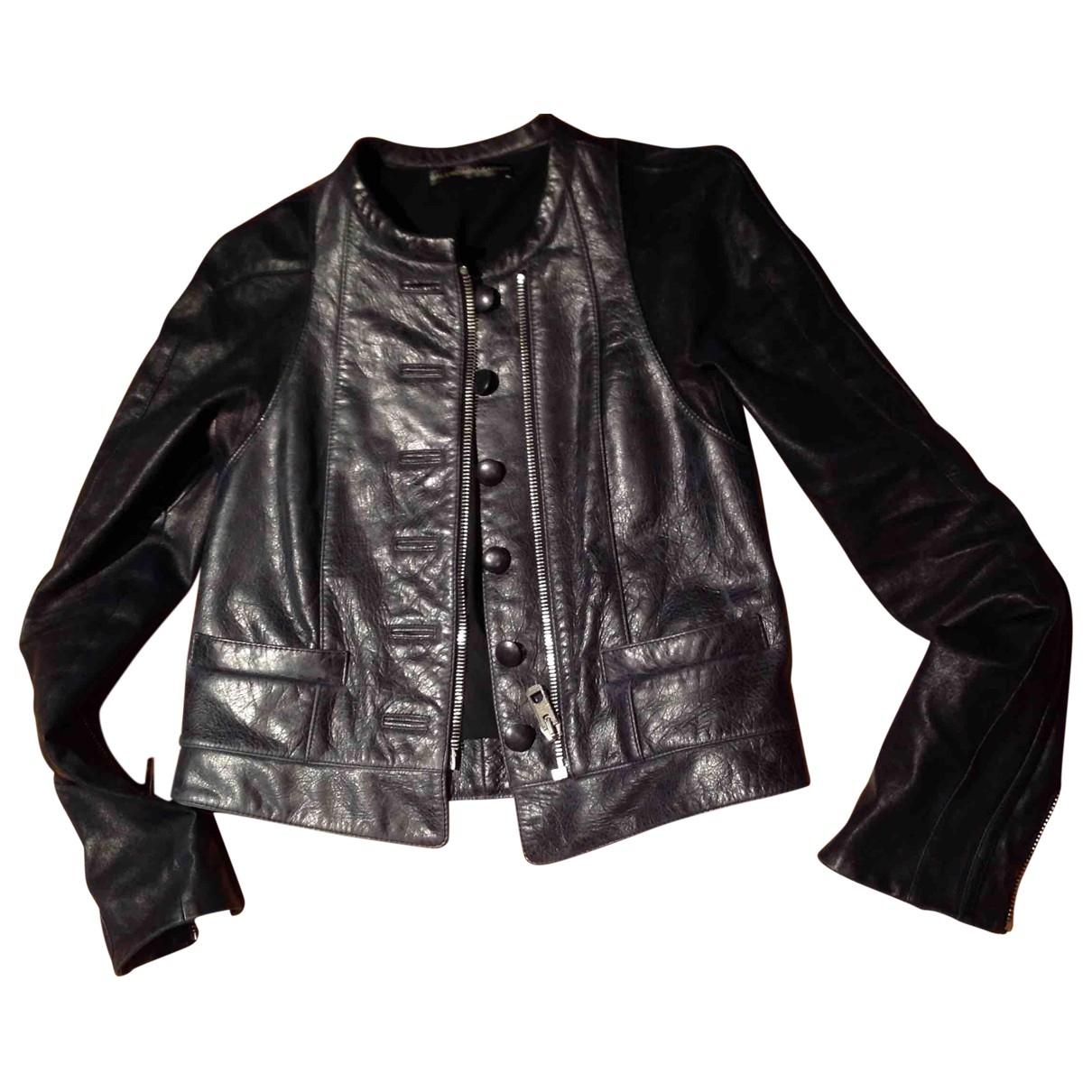 Balenciaga \N Black Leather Leather jacket for Women 40 IT