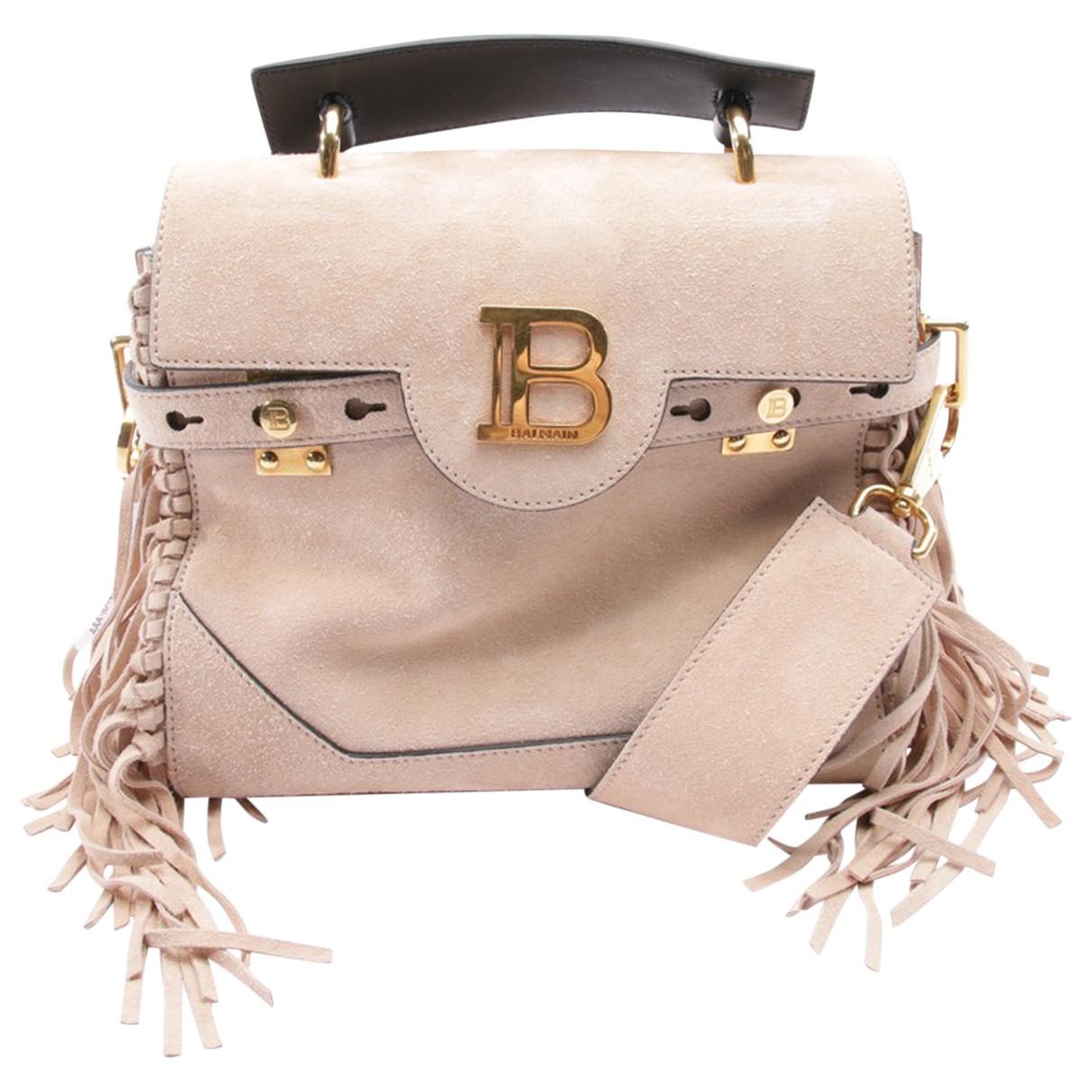 Balmain \N Beige Leather handbag for Women \N