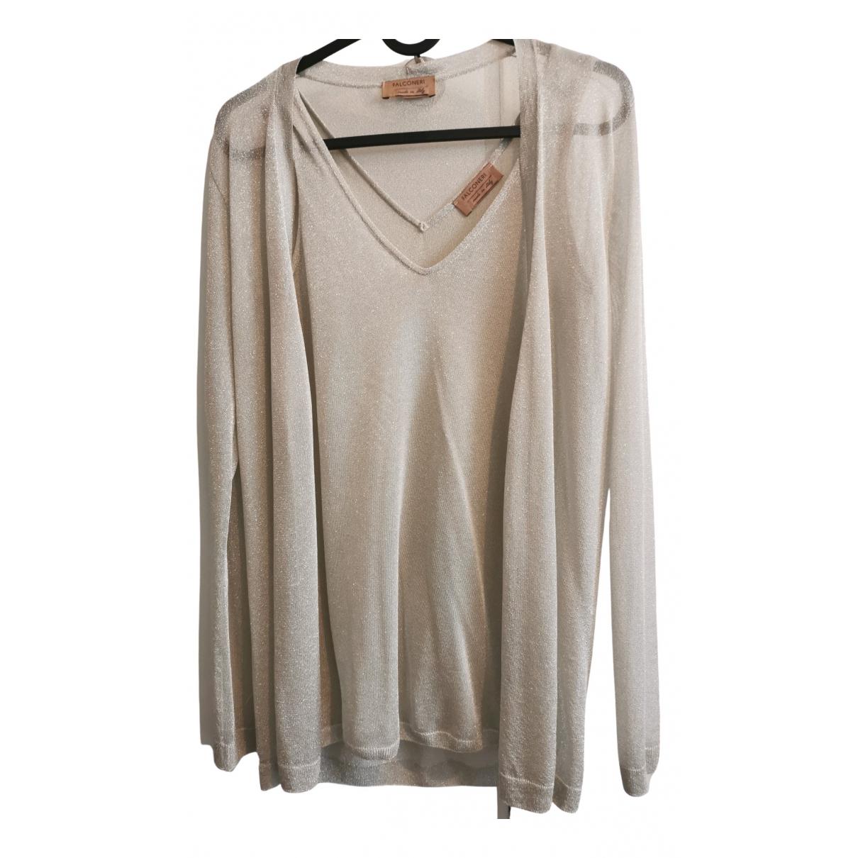 Falconeri \N Pullover in  Beige Seide