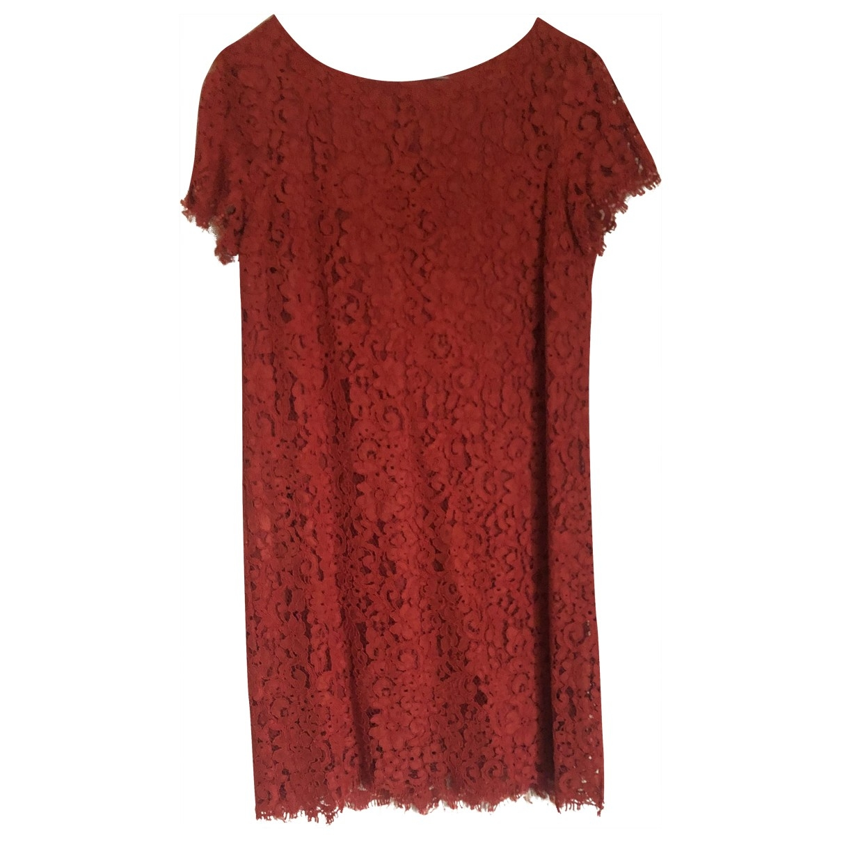 Zara \N Kleid in  Rot Spitze
