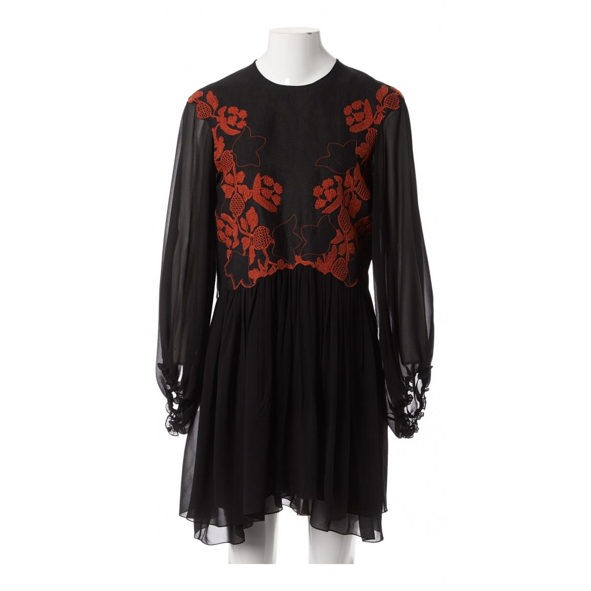 Chloe - Robe   pour femme en lin - noir