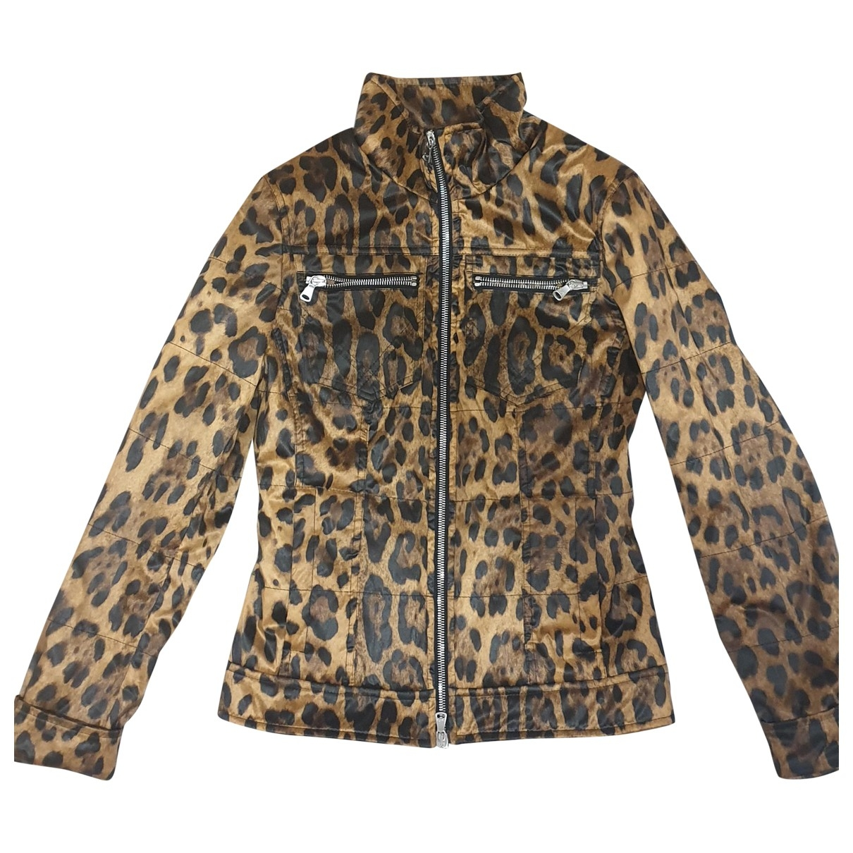 Dolce & Gabbana \N Lederjacke in  Kamel Synthetik