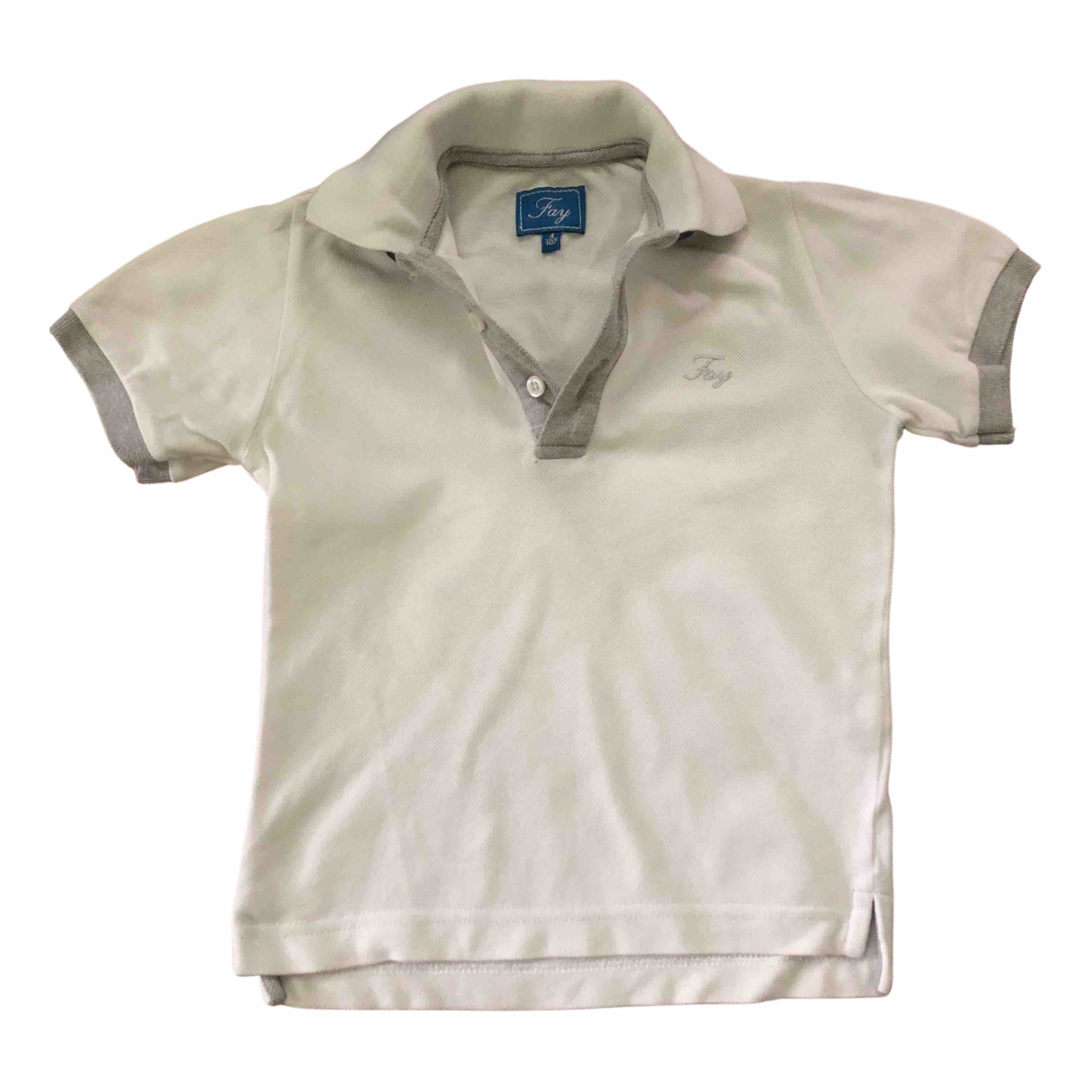 Fay N White Cotton  top for Kids 4 years - up to 102cm FR