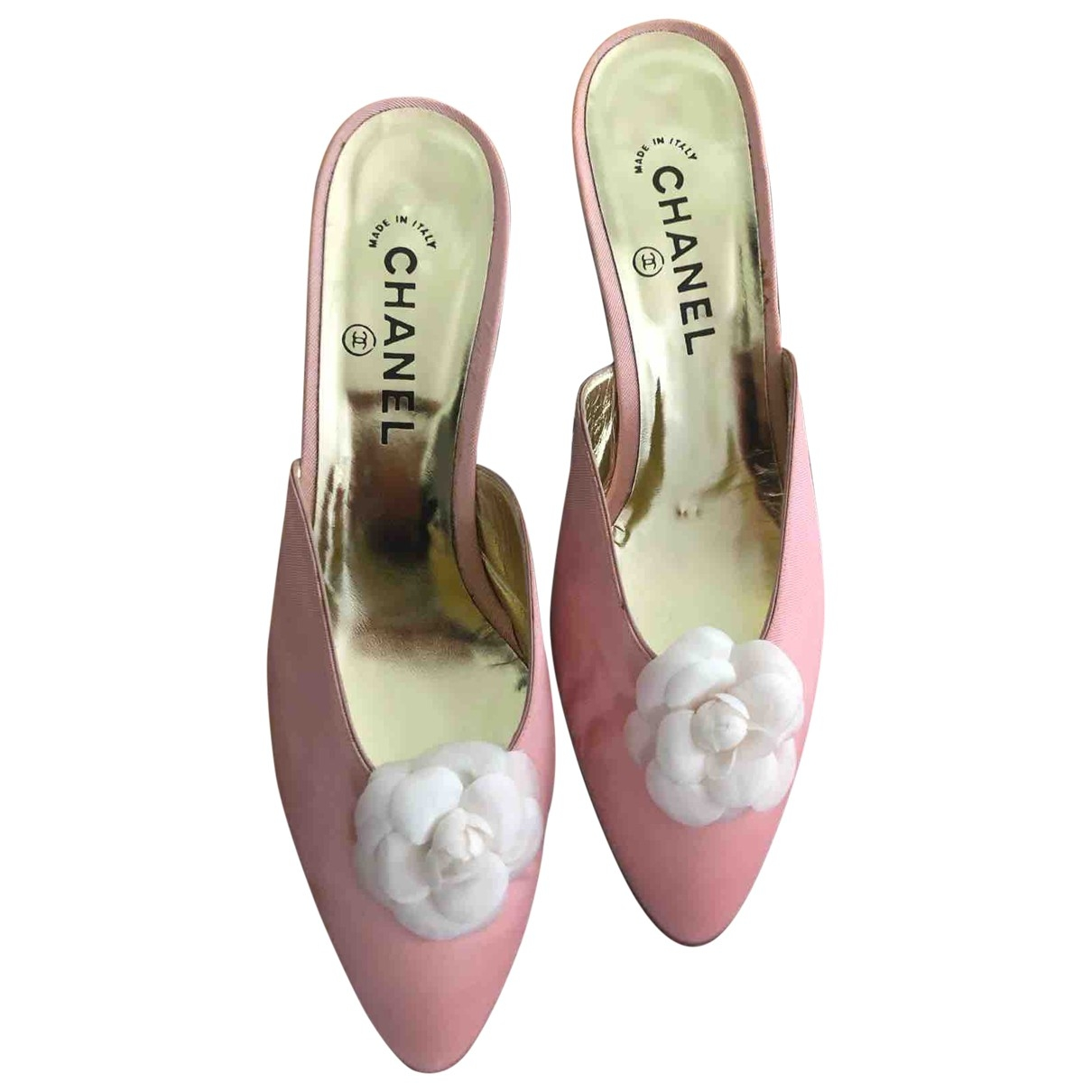 Chanel \N Pink Cloth Mules & Clogs for Women 39.5 EU