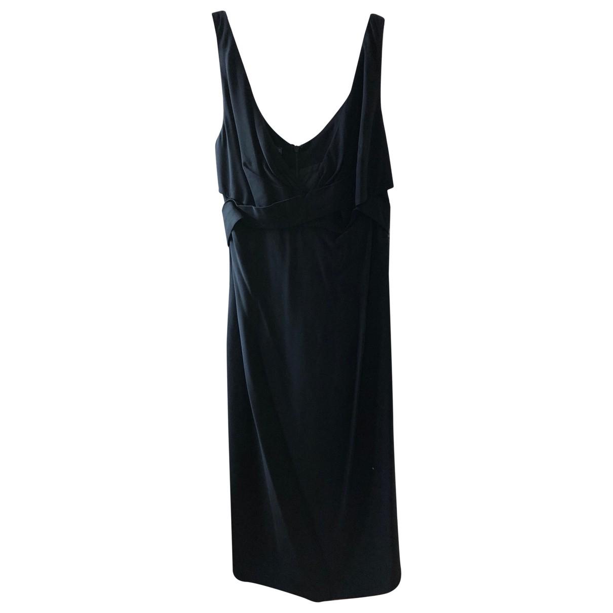 Alexander Mcqueen \N Kleid in  Schwarz Viskose