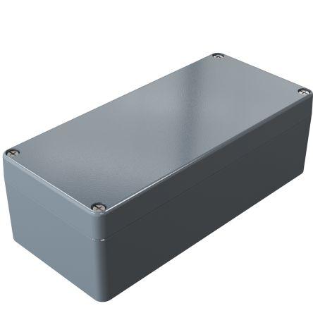 Rose Aluminium Standard, Grey Die Cast Aluminium Enclosure, IP66, 175 x 80 x 57mm Lloyds Register, Maritime Register,