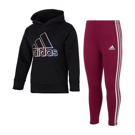 adidas Toddler Girls 2-pc. Pant Set, 4t , Black