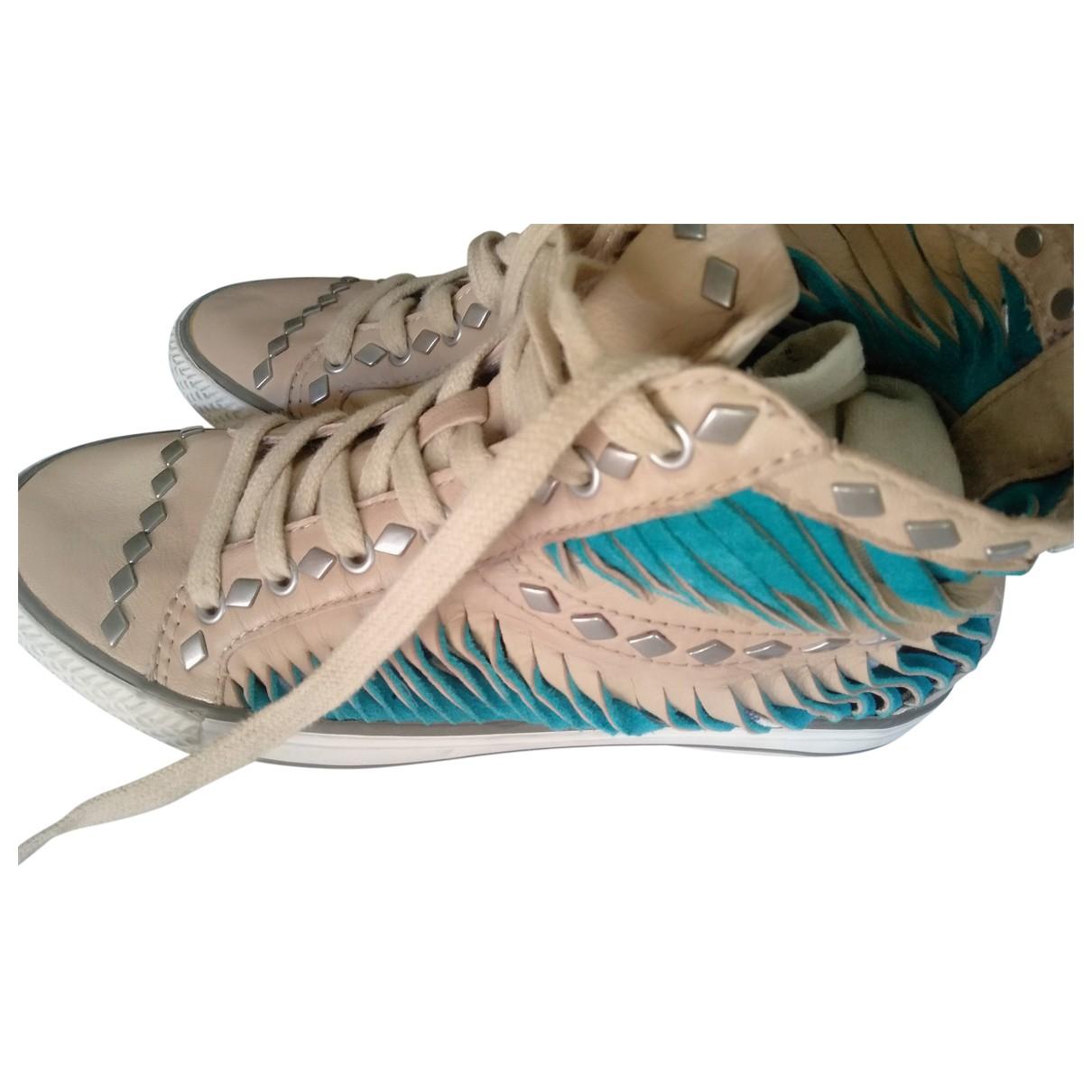Ash \N Sneakers in  Beige Leder