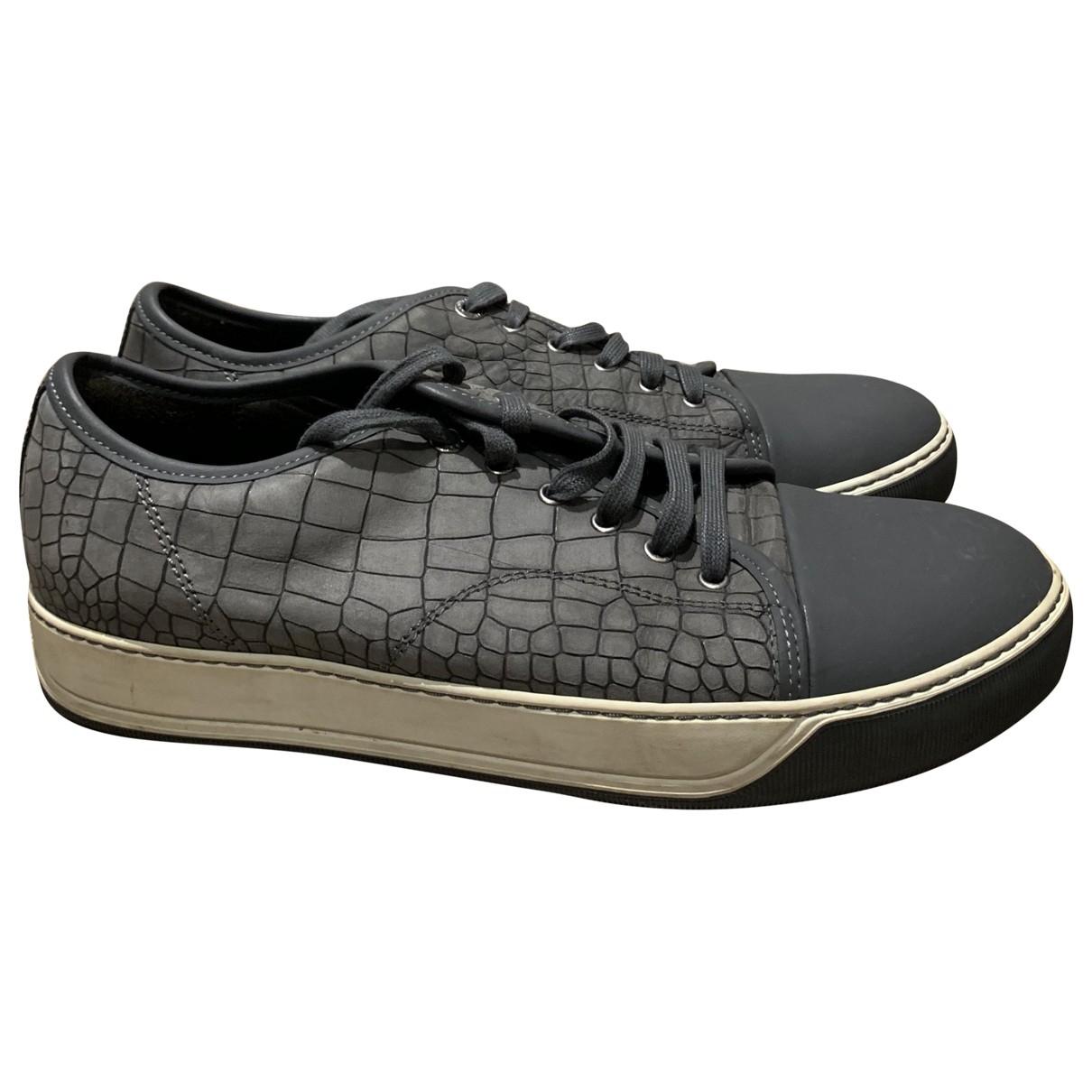 Lanvin \N Sneakers in  Grau Leder