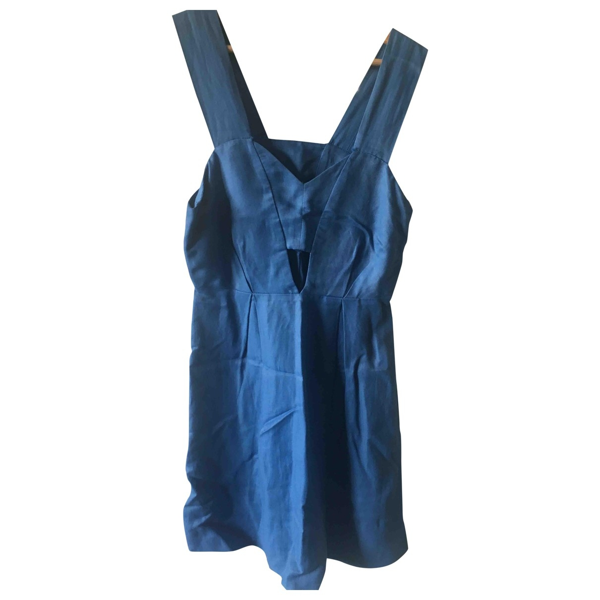 Sandro \N Kleid in  Blau Leinen