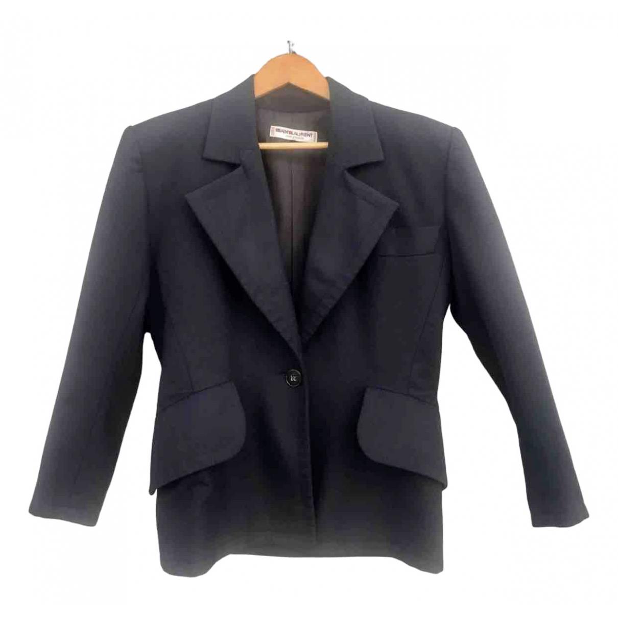 Yves Saint Laurent N Navy Wool jacket for Women 38 FR